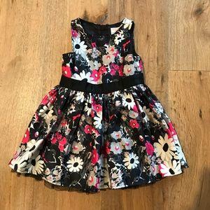 Genuine Kids Satin Flower Print Fancy Dress